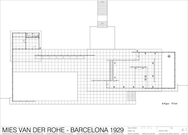 Mies van der rohe theory of design for Architecture de plan libre